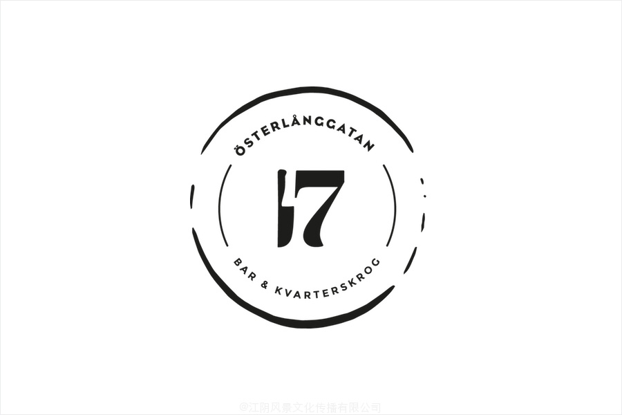 Logo for Stockholm restaurant Österlånggatan 17 by Lobby Design