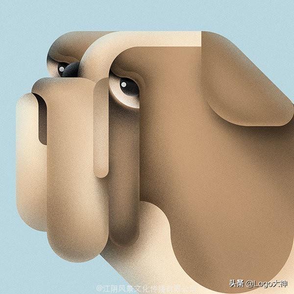 几何图形动物插画分享